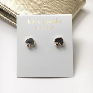 Kate Spade Black and Gold Mini Stud Earrings